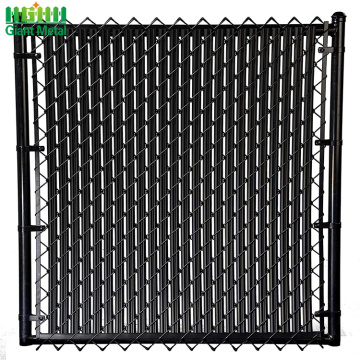 Black pvc coated chain link fence stock fencing