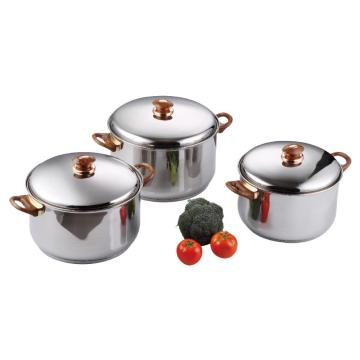Stainless Steel set With Plastic Handles