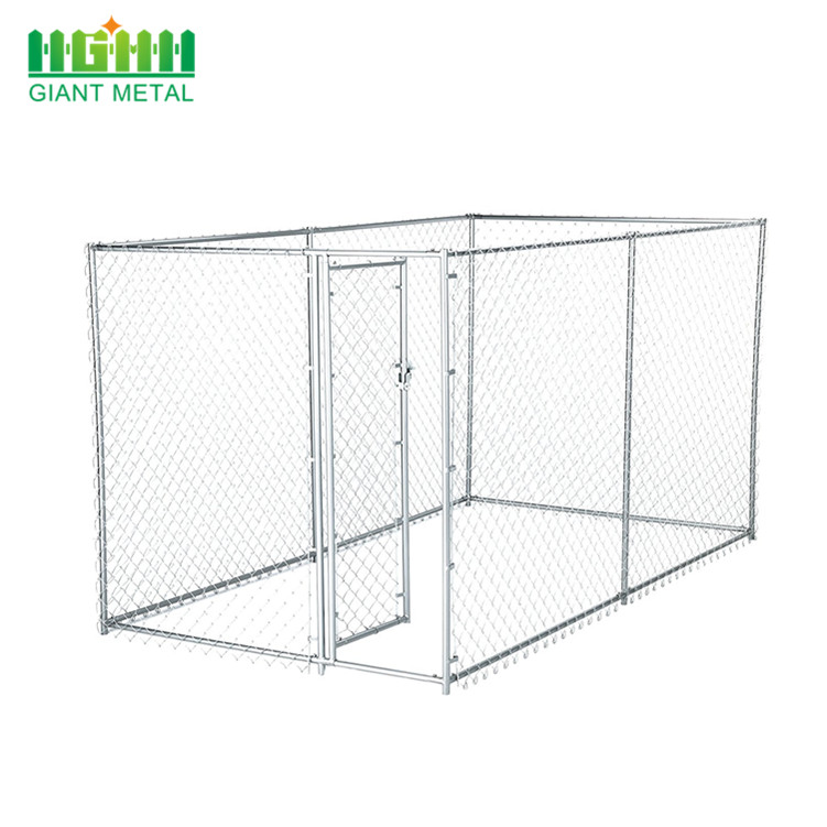 Galvanized Outdoor Chain Link Kennel Pet Dog Houses