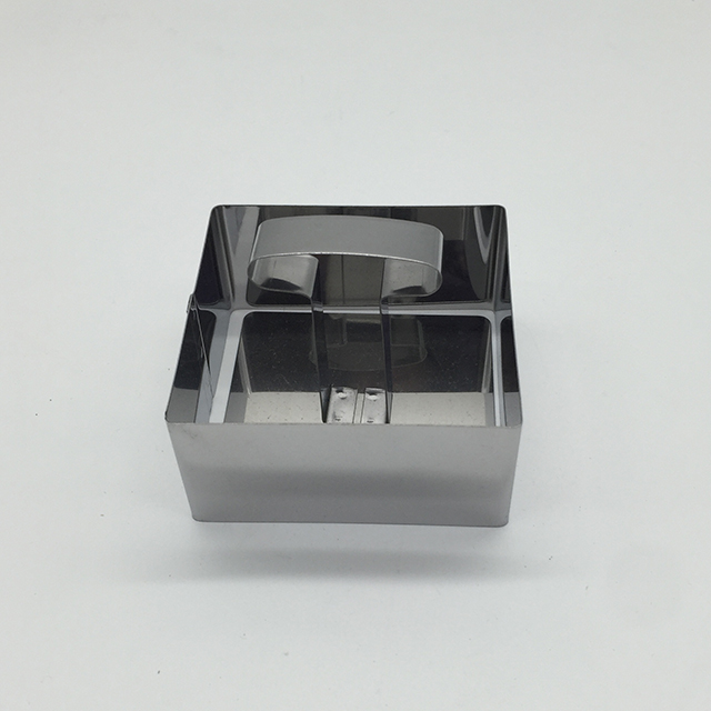Stainless Steel Rectangle Shape Cake Mould 2