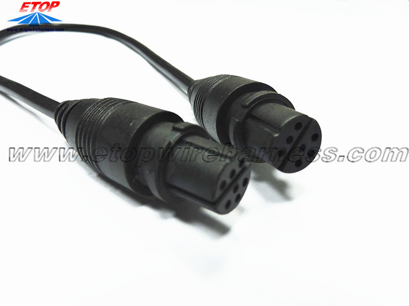 7pin molded waterproof cable
