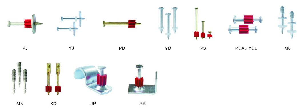 Drive Pins for NH307S Light Powder Actuated Fastening Tool - Single Shot - Direct Fastening Tool