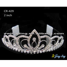 "2"" small crystal rhinestone birthday tiara hair accessories"