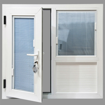 UPVC Window with Built-in Blinds Design Foshan Factory