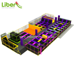 Free sample for Indoor Trampoline Park Builder Large exercise kids indoor trampoline with airbag supply to Australia Manufacturer