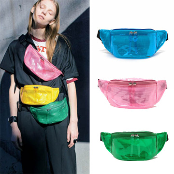Festival Travel Hip-Hop Clear PVC Waterproof Waist Bags