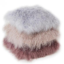 Mongolian Lamb Fur Lumbar Throw Pillow