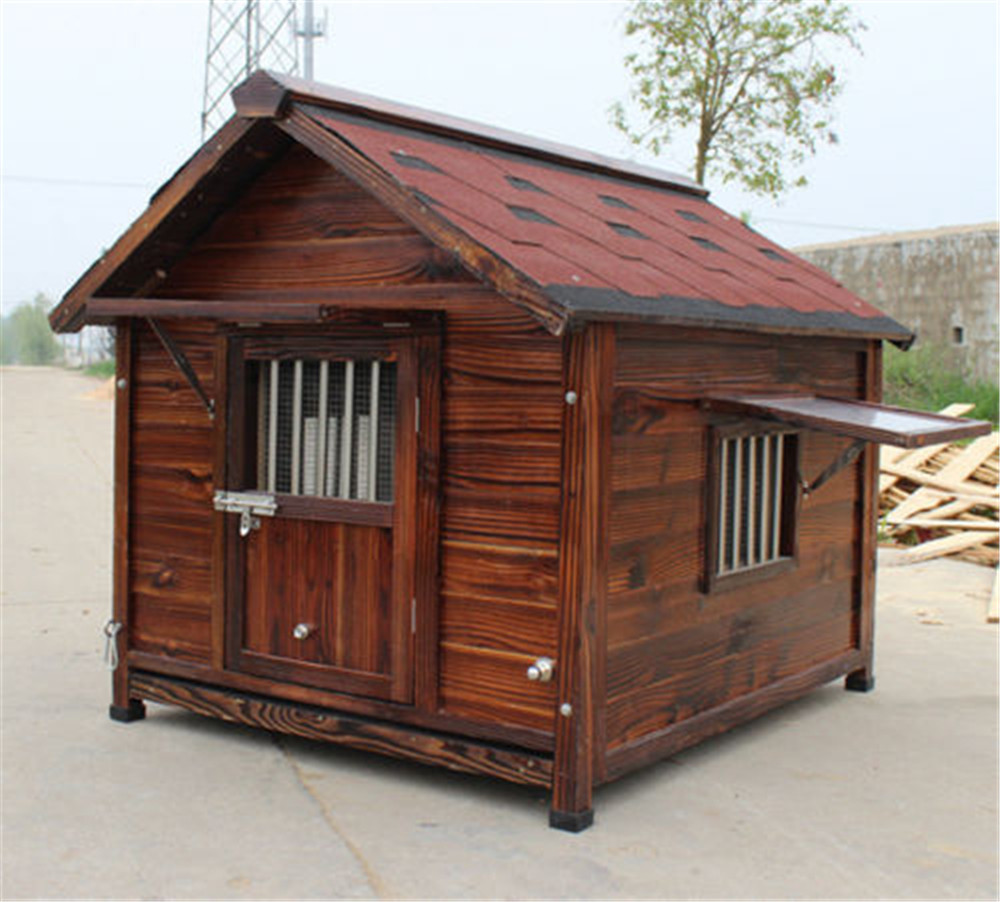 natural safe wooden dog home