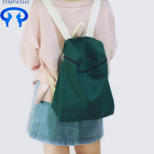 Custom plain canvas backpack for women