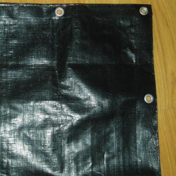Black PE tarpaulin for industry