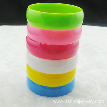 Hard Wide Plastic Bangle Solid Multi Neon Colors Bangle