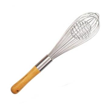 kitchen egg whisker with wooden handle