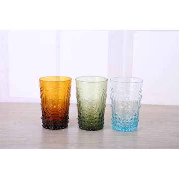 handmade solid color glass tumbler cup manufacturer