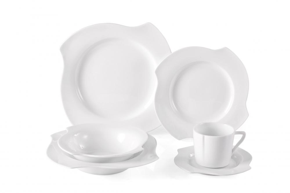Special shape super white soup plates dinnerware
