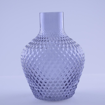 Unique Decorative Glass Vase With Purple Color