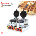 Doubel head electric rotating waffle maker