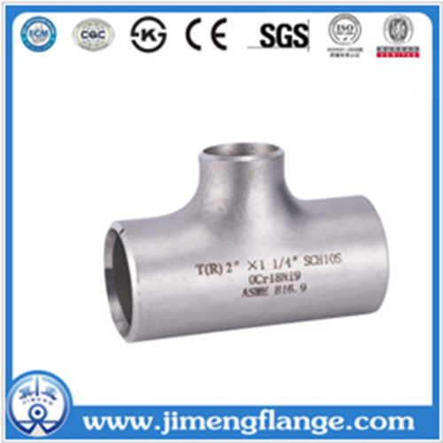 Jimeng Brand Threaded High Pressure STD/XS Straight Pipe Tee