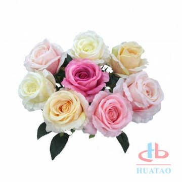 Fabric artificial silk rose real look interior decoration
