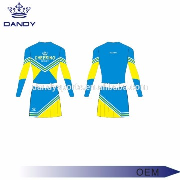 Klassískt Sublimated Little Girl Cheerleading outfits
