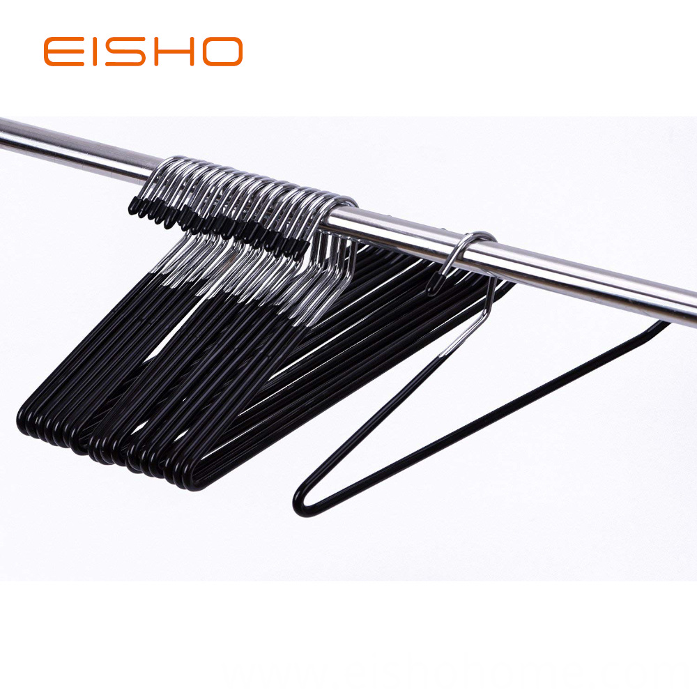 Eisho Wholesale Black Metal Clothes Smooth Pvc1