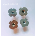 Full Thread Zinc Plated Locking Tee Nuts