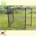 Large outdoor wire welded black dog runs