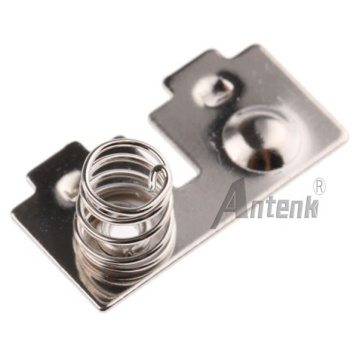Button & Coil Spring Contact AAA Battery
