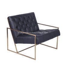 Modern Living Room Genuine Leather Lounge Chair