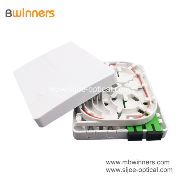 FTTH 2 core 2 port SC/LC Fiber Wall Socket Optic faceplate Mini Terminal Box
