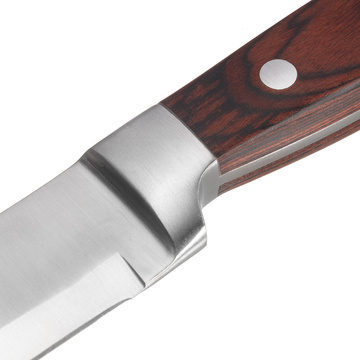 3 pieces brown handle steak knives set
