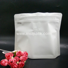 White Stand Up Pouch Doypack Shape Bag