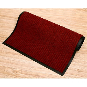 Entrance customized striped polyester floor mat