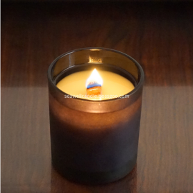 Soy Wax Wood Wick Black Jar Candle