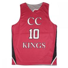 Custom Printed dry fit Pink basketball jersey