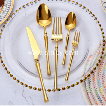 Stainless Steel Rose Gold Wedding Cutlery