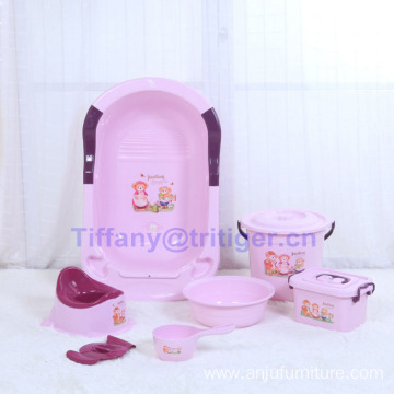 New design baby shower basin/soft baby shower basin/popular baby food grade PP material shower tube wholesale