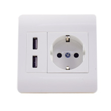 High quality 220V 5V2.1A EU usb wall socket