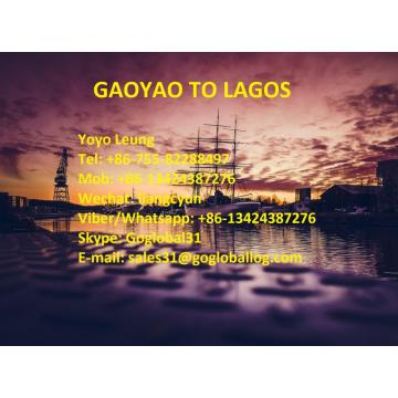 Cheapest Price for Shipping To Africa Zhaoqing Gaoyao Sea Freight to Nigeria Lagos supply to Spain Manufacturer
