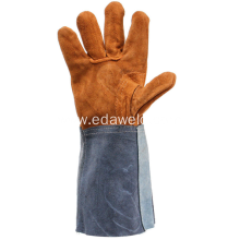 Welding Working Soft Cowhide Leather Plus Gloves