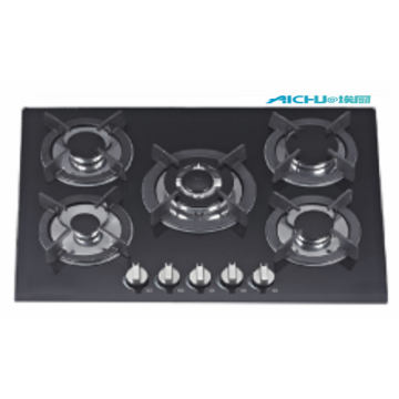 Built In Tempered Glass Gas Hob Top