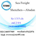 Shenzhen Port Sea Freight Shipping To Abadan