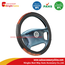 High Performance for Classic Car Steering Wheel Covers Black And Wood Grain Steering Wheel Cover export to Saint Vincent and the Grenadines Exporter