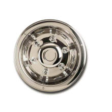 Leading for Automotive Car Stainless Steel Accessories Truck Van Hub  Cap Wheel Trim supply to France Factory