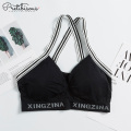 Ladies padded sport bra women crop top bra