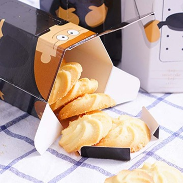Luxury Hexagon Cute Cookies Box Packaging with Window