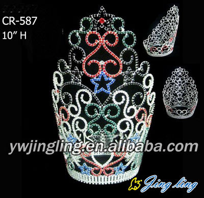 Colorful Round Pageant Crown For Sale