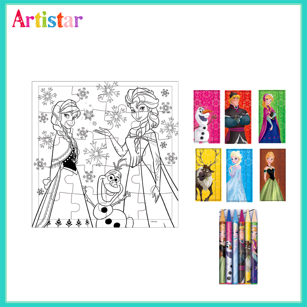 Disney Frozen Colouring Puzzle Set 2