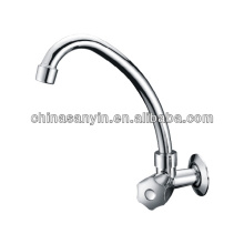 Swan Neck Single Handle Deck Mounted Faucet