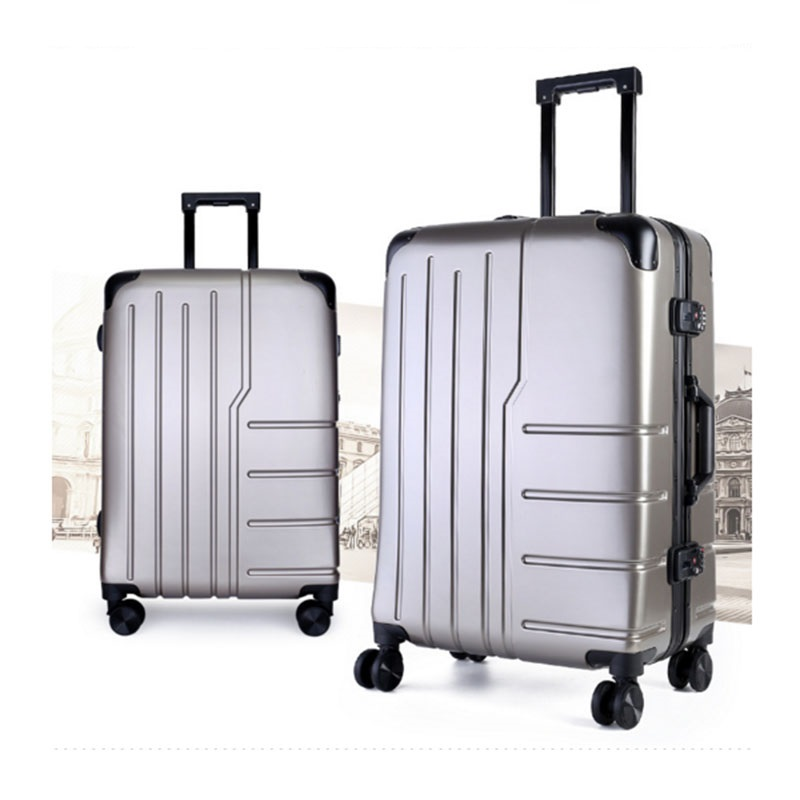 Silvery pc luggage