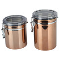 Stainless Steel Airtight Canister with Clear Acrylic Lid